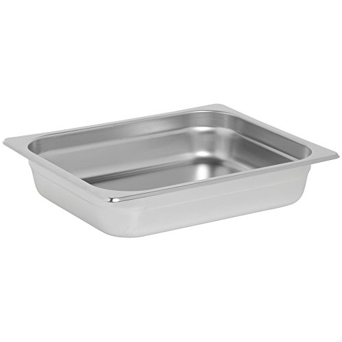 HUBERT Induction Chafer Food Pan Half Size 4 1/4 Qt Rectangular Stainless Steel Contemporary - 13