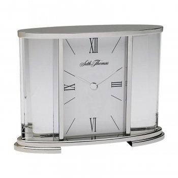 (Seth Thomas TSI006060 Silver Glass Carriage Table Clock)