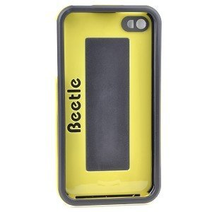 AGF Beetle Shell Protective Case for iPhone 4/4S (Black/Yellow) – Keep Your iPhone 4/4S Protected From Scratches & Dust! For Sale