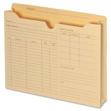 """Globe-Weis B3143DT Pendaflex File Folder Jackets, Letter Size, Manila, Preprinted, Expands 2"""" inches, Reinforced Tabs, 9.5"""" x 11.5"""" inches – Pack of 50"""