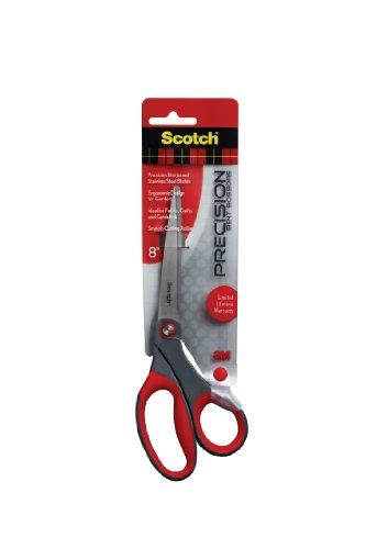 Scotch Precision Bent 8 Inch Scissor, 6 Pack (1448B)