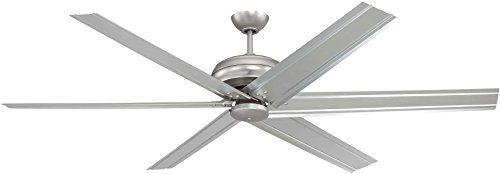 Craftmade Outdoor Ceiling Fan with Remote COL72BN6 Colossus 72 Inch Large Fan for Patio, Brushed Pewter