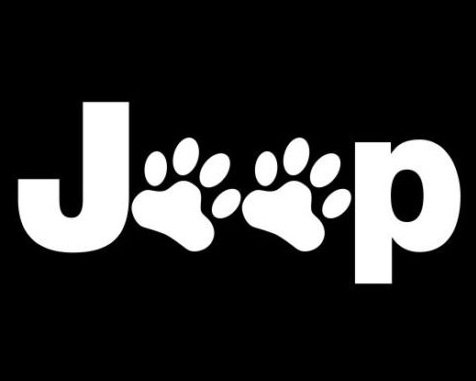 Jeep Paw Sticker Vinyl Decal - Car Window Truck Bumper Laptop Cat Dog Paws, Die cut vinyl decal for windows, cars, trucks, tool boxes, laptops, MacBook - virtually any hard, smooth surface ()