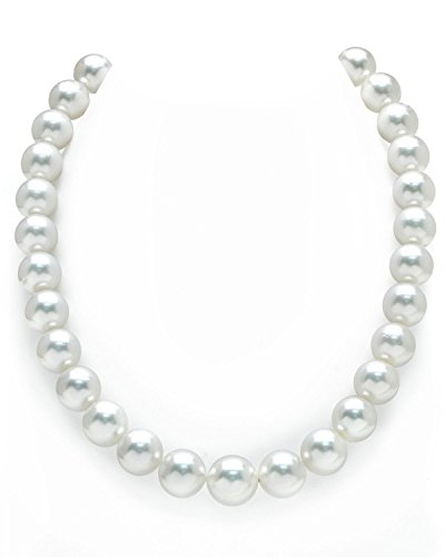 14K Gold 12-14mm Australian White South Sea Cultured Pearl (White Australian South Sea Pearl)