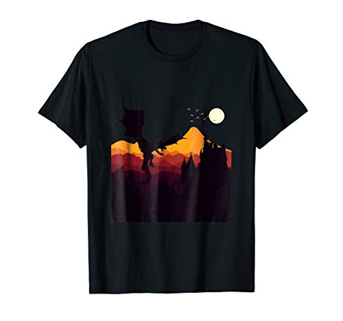dragon halloween t-shirt scary witch house -