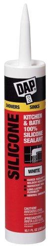 Dap Inc 08640 12 Pack 9.8 oz. Kitchen and Bath 100% Silicone Rubber Sealant - Dap Silicone Rubber Sealant