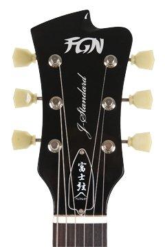FGN J estándar de Flame Flat Top Guitarra eléctrica Black: Amazon.es: Instrumentos musicales