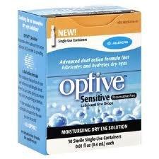 Optive sensible sans conservateur gouttes oculaires lubrifiantes 30 ch