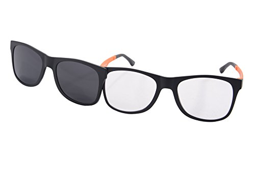SHINU Clear Lens Eyeglasses Frames Polarized Magnetic Clip on Wayfarers Sunglasses - - On For Sunglasses Magnetic Clip Eyeglasses