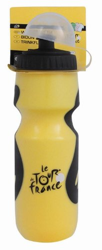 De France Tour Bottle Water (Tour de France Grip Water Bottle (Yellow/ Black, 700ml))