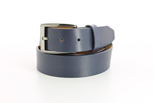 Remo Tulliani Men's 35mm Wide Romeo Italian Calfskin Leather Dress Belt