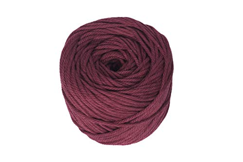 Macrame Cord Wine Red 4mm X 110m(About 120 yd) Natural Virgin Cotton Handmade Decorations Macrame Wall Hangings Plant Hanger Crocheting Bohemia Dream Catcher DIY Craft Knitting - Soft Wine Red String ()