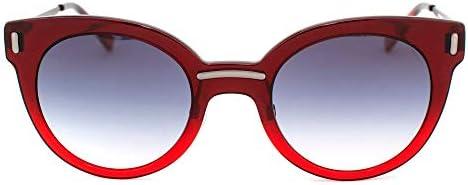 HUMPHREY\'S 588116-50-2035 Lunettes de Soleil, Rojo-Gris Oscuro/Azul Degradado, 45/17/140 Femme