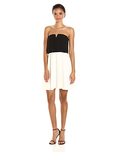 Zip Detail Strapless Dress - 3