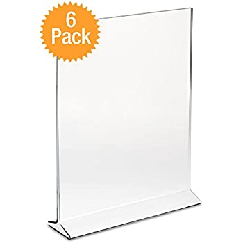 Amazoncom DisplayPros X Acrylic Sign Holder Clear Plastic - Acrylic menu table tent holders