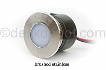 Highpoint Mini-Round LED Recessed Light - Brushed Stainless - Decking Materials - Amazon.com  sc 1 st  Amazon.com & Highpoint Mini-Round LED Recessed Light - Brushed Stainless ...