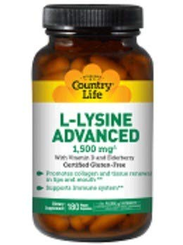 L-Lysine Advanced Country Life 180 Caps by Country Life