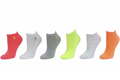 Polo Ralph Lauren 6-Pack Coral Assorted Classic Sport Socks Sz 9-11 Fits ()