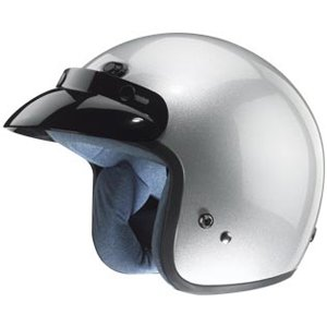 (Zox Classic Adult Harley Touring Motorcycle Helmet - Solid Glossy Silver/X-Small)