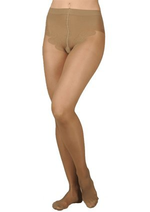 French Cut Sheer Pantyhose - Juzo Sheer 5070 OTC French Cut Pantyhose 10-15mmHg Color: 57-Cinnammon, Size: D