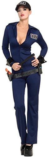 Secret Wishes  Costume Naughty Criminal Investigator Costume, Blue, Small