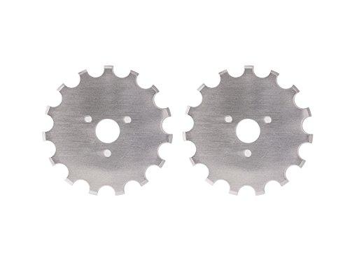 (Dafa 45mm Crochet / Wide Skip Blades, 2 Perforating Rotary Cutter Blades Per Pack)