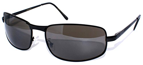 Edge I-Wear Big & Tall Rectangular Metal Frame Aviator w/UV400 Lens - Fm Sunglasses