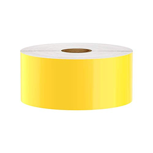 Premium Vinyl Label Tape for DuraLabel, LabelTac, SafetyPro and Others, Yellow, 2