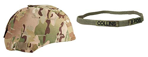 (Propper Multicam MICH Helmet Cover with Customized OCP Kevlar Helmet Stretch Band (LARGE/XL))