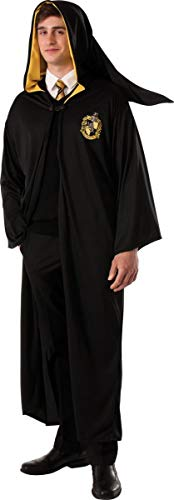 Rubie's Men's Harry Potter Deathly Hollows Hufflepuff Adult Costume Robe, Black, One Size]()