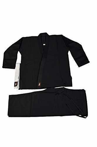 Your Jiu Jitsu Gear Brazilian Jiu Jitsu Kids Uniform Black M0 with BJJ White Belt