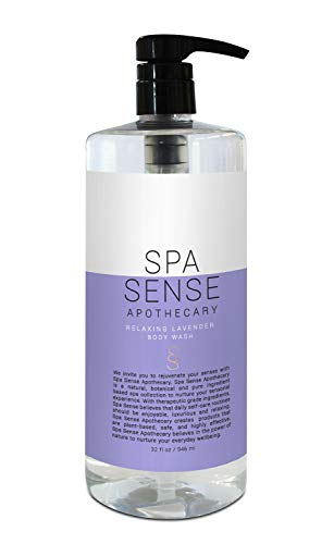 - Spa Sense Apothecary Liquid Bath and Body Wash Collection, Bathing and Shower Gel, 32 OZ, Infused with Natural Essential Oils, Relaxing Lavender Scent