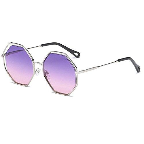de rétro soleil D lunettes de personnalité soleil femmes et Aoligei Mode hommes lunettes soleil polygone lunettes de 1UqXcSwpf
