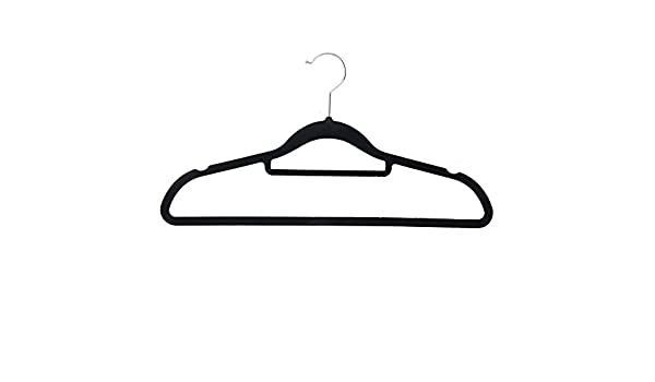 SOVI - 120 x negro antideslizante percha ropa de abrigo de ...