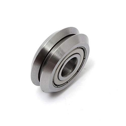 Ochoos 1Pcs W2 9.525x30.73x11.1mm V Wheel W Groove Sealed Ball Bearing Linear Guide Roller Bearing Steel Pulleys Mechanical Parts