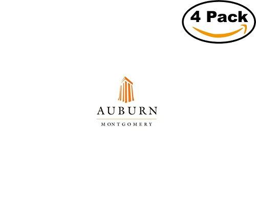ities AUBURN Logo 4 Stickers 4X4 Inches Car Bumper Window Sticker Decal ()