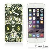 OnlineBestDigital - Skull Pattern Hardback Case for Apple iPhone 6 Plus (5.5 inch) Smartphone - Skull with Paisley Background by lolosakes