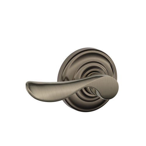 Schlage Champagne Passage Lever, Andover Rose, Antique Pewter