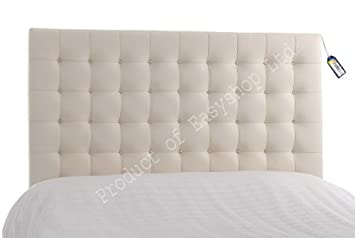Funkybuys Top 5ft Kingsize Bed Faux Leather Headboard Luxury Tufted