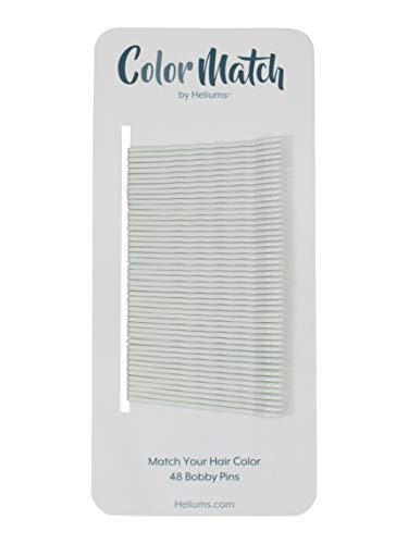 White Color Match Premium Bobby Pins, 2 Inch Wavy - 48 Count