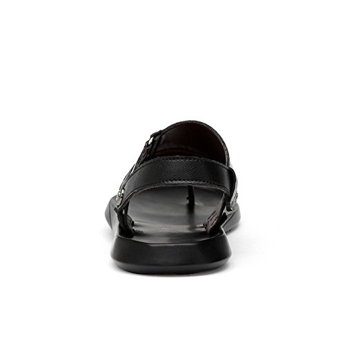 2018 EU in Dimensione 39 da Nero pelle Infradito da da shoes casual Color uomo Pantofole regolabile Schienale Mens scarpe Sandali antiscivolo Nero lacci PU senza Nero spiaggia Infradito rWq7AFxr4