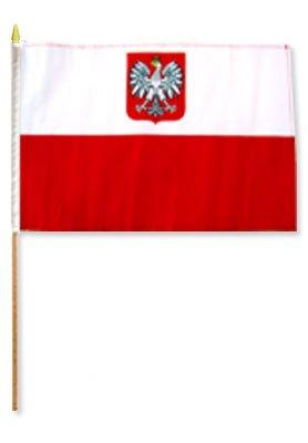 One Dozen Poland Eagle 12x18in Stick Flags. Review