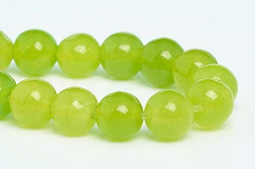 4MM Natural Lime Green Jade Gemstone Beads Grade AA Round Loose Beads 7.5