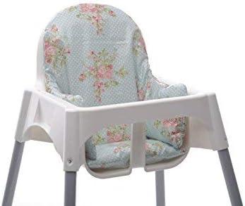 Messy Me Coussin D Assise Chaise Haute Ikea Antilop Toile Cirée Facile à Nettoyer Renfort Chaise Bébé Lors Du Repas Floral