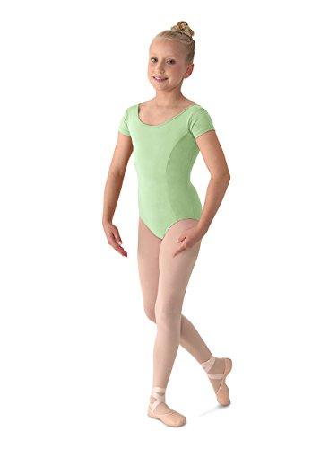 - Mirella Girl's Princess Seam Cap Sleeve Dance Leotard Seafoam 6X-7