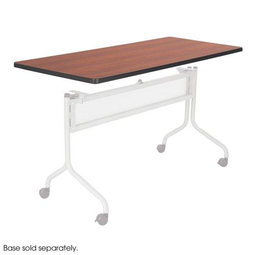 Series Mobile Rectangular Training Tables - Safco 2066CY Impromptu Series Mobile Training Table Top Rectangular 60w x 24d Cherry