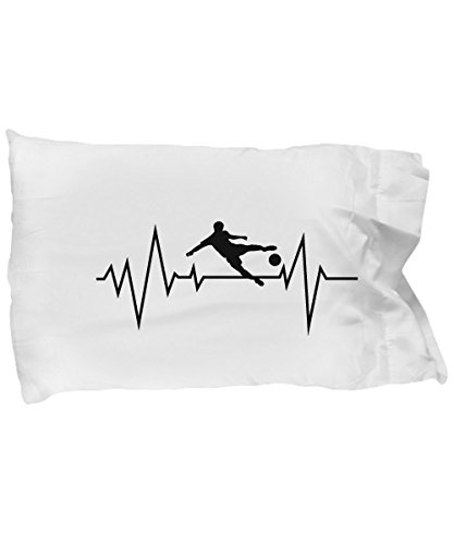 Pillow Covers Design Soccer Heartbeat Men Women Boy Girl Gift Pillow Cover Ideas by De Look