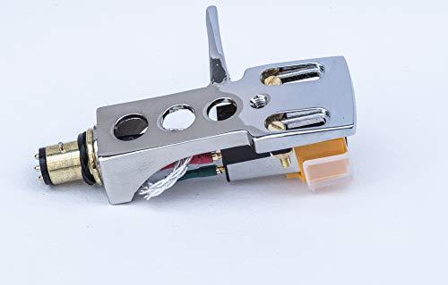 Espejo de chapado en cromo headshell, cartucho, aguja para Aiwa ap-2060N, ap-2600, ap-d50h, D50, ap-2300K/E, D60,...