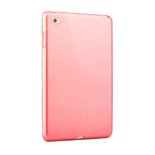 Price comparison product image Feite New Clear TPU Skin Gel Silicone Case Cover for iPad mini 4 (Red)