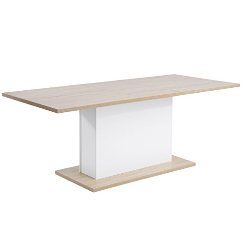 Extendable Rectangular Dining Table, Mltifunction Space Saving Wood Table (Extendable Beech Table)